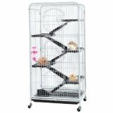 AUFUN Käfig für Ratten Hamster,Frettchen, Meerschweinchen, Chinchilla, Kaninchen Rattenkäfig mit 3 Fronttür 6 Schichten 132x64.5x44.5cm - 1