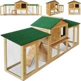 Deuba Hasenstall mit 2 Etagen variabel aufstellbar - Kaninchenstall Kleintierstall Hasenkäfig - 1