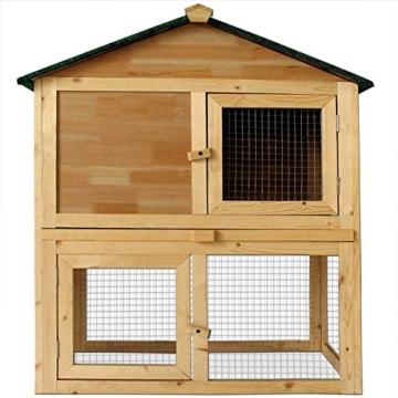 Deuba Hasenstall mit 2 Etagen variabel aufstellbar - Kaninchenstall Kleintierstall Hasenkäfig - 3