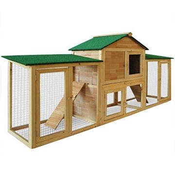 Deuba Hasenstall mit 2 Etagen variabel aufstellbar - Kaninchenstall Kleintierstall Hasenkäfig - 4