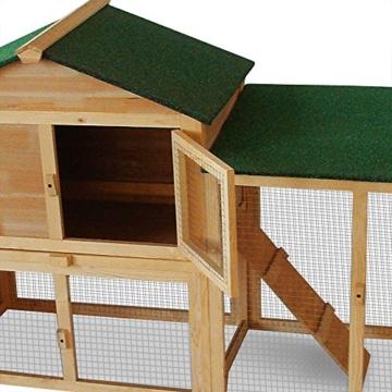 Deuba Hasenstall mit 2 Etagen variabel aufstellbar - Kaninchenstall Kleintierstall Hasenkäfig - 5
