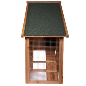 dibea RH10012, Kleintierstall Holz (140 x 64 x 119 cm), geräumiger 2-Etagen Käfig mit herausziehbarer Schublade, 2 Türen, für Kaninchen Hamster Hasen Meerschweinchen - 4