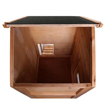 dibea RH10012, Kleintierstall Holz (140 x 64 x 119 cm), geräumiger 2-Etagen Käfig mit herausziehbarer Schublade, 2 Türen, für Kaninchen Hamster Hasen Meerschweinchen - 5