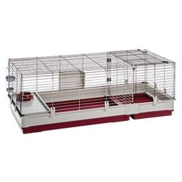 Ferplast Nagerheim Krolik 140 für Kaninchen und andere Nager – Hochwertiger Kleintierkäfig mit verschließbarem Frontgitter und umfangreichem Zubehör – Maße 142 x 60 x 50 cm - 1