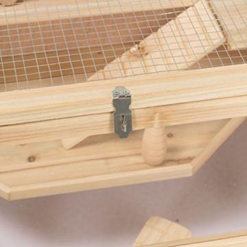 Kleintierstall Meerschweinchenstall CHINO aus Holz, 100x55x55 cm, Hamsterkäfig, Nagerkäfig - 3