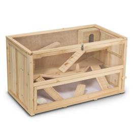 Kleintierstall Meerschweinchenstall CHINO aus Holz, 100x55x55 cm, Hamsterkäfig, Nagerkäfig - 1