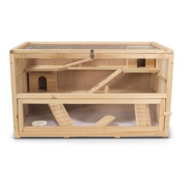 Kleintierstall Meerschweinchenstall CHINO aus Holz, 100x55x55 cm, Hamsterkäfig, Nagerkäfig - 4