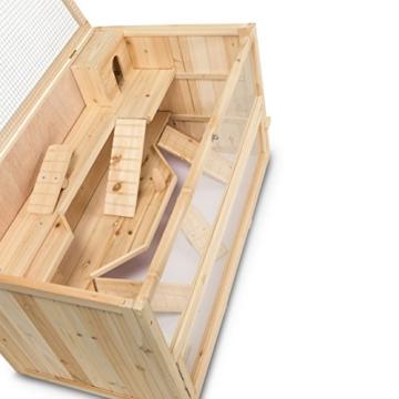 Kleintierstall Meerschweinchenstall CHINO aus Holz, 100x55x55 cm, Hamsterkäfig, Nagerkäfig - 5