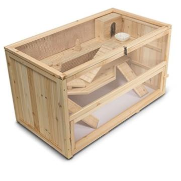 Kleintierstall Meerschweinchenstall CHINO aus Holz, 100x55x55 cm, Hamsterkäfig, Nagerkäfig - 7