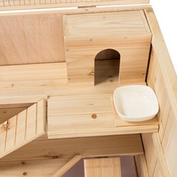 Kleintierstall Meerschweinchenstall CHINO aus Holz, 100x55x55 cm, Hamsterkäfig, Nagerkäfig - 8
