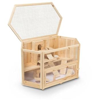 Kleintierstall Meerschweinchenstall MATS aus Holz, 90x55x55 cm, Hamsterkäfig, Nagerkäfig - 2
