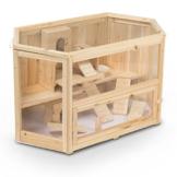 Kleintierstall Meerschweinchenstall MATS aus Holz, 90x55x55 cm, Hamsterkäfig, Nagerkäfig - 1