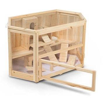 Kleintierstall Meerschweinchenstall MATS aus Holz, 90x55x55 cm, Hamsterkäfig, Nagerkäfig - 3