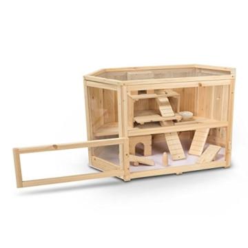 Kleintierstall Meerschweinchenstall MATS aus Holz, 90x55x55 cm, Hamsterkäfig, Nagerkäfig - 4