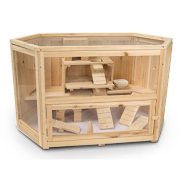 Kleintierstall Meerschweinchenstall MATS aus Holz, 90x55x55 cm, Hamsterkäfig, Nagerkäfig - 6