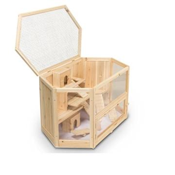 Kleintierstall Meerschweinchenstall MATS aus Holz, 90x55x55 cm, Hamsterkäfig, Nagerkäfig - 7