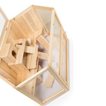 Kleintierstall Meerschweinchenstall MATS aus Holz, 90x55x55 cm, Hamsterkäfig, Nagerkäfig - 8