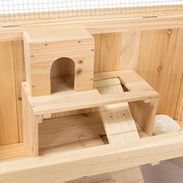 Kleintierstall Meerschweinchenstall MATS aus Holz, 90x55x55 cm, Hamsterkäfig, Nagerkäfig - 9