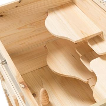 Kleintierstall Meerschweinchenstall SAMSON aus Holz, 60x40x80 cm, Hamsterkäfig, Nagerkäfig - 6