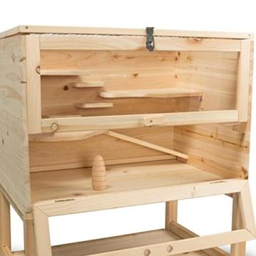 Kleintierstall Meerschweinchenstall SAMSON aus Holz, 60x40x80 cm, Hamsterkäfig, Nagerkäfig - 9