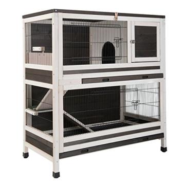 Lounge Small Pet Cage Kleintierstall, für den Innenbereich, aus Fichtenholz, 2 Ebenen - 2