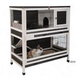 Lounge Small Pet Cage Kleintierstall, für den Innenbereich, aus Fichtenholz, 2 Ebenen - 1