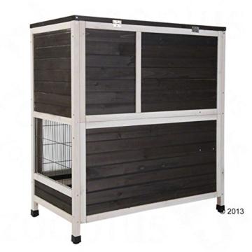 Lounge Small Pet Cage Kleintierstall, für den Innenbereich, aus Fichtenholz, 2 Ebenen - 3