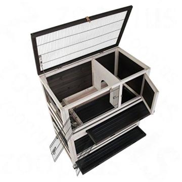 Lounge Small Pet Cage Kleintierstall, für den Innenbereich, aus Fichtenholz, 2 Ebenen - 4