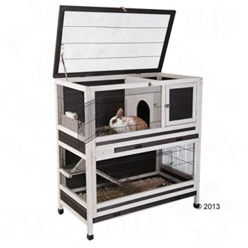 Lounge Small Pet Cage Kleintierstall, für den Innenbereich, aus Fichtenholz, 2 Ebenen - 5