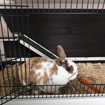 Lounge Small Pet Cage Kleintierstall, für den Innenbereich, aus Fichtenholz, 2 Ebenen - 6