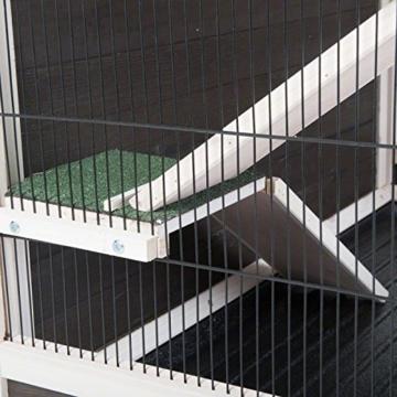 Lounge Small Pet Cage Kleintierstall, für den Innenbereich, aus Fichtenholz, 2 Ebenen - 9