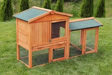 Miweba Hasenstall My Animal MH-03 Doppelstockhaus mit Garten Hasenvilla Kaninchenkäfig Hasenkäfig Kaninchenstall 2 Ebenen - 2