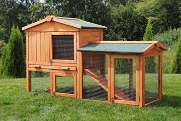 Miweba Hasenstall My Animal MH-03 Doppelstockhaus mit Garten Hasenvilla Kaninchenkäfig Hasenkäfig Kaninchenstall 2 Ebenen - 1