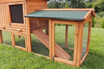 Miweba Hasenstall My Animal MH-03 Doppelstockhaus mit Garten Hasenvilla Kaninchenkäfig Hasenkäfig Kaninchenstall 2 Ebenen - 5