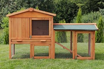 Miweba Hasenstall My Animal MH-03 Doppelstockhaus mit Garten Hasenvilla Kaninchenkäfig Hasenkäfig Kaninchenstall 2 Ebenen - 6