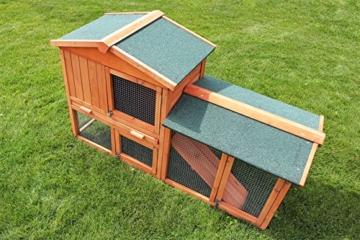 Miweba Hasenstall My Animal MH-03 Doppelstockhaus mit Garten Hasenvilla Kaninchenkäfig Hasenkäfig Kaninchenstall 2 Ebenen - 7