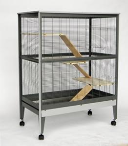 Nagervoliere Käfig für Ratten Chinchilla Degus Frettchen Voliere Top Qualität ! - 1