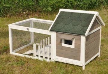 nanook Stall Felix für Zwergkaninchen Hamster Meerschweinchen mit Auslauf und Terrasse -143 x 74 x 82 cm - 2