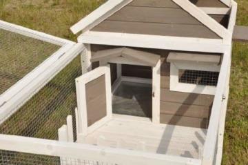 nanook Stall Felix für Zwergkaninchen Hamster Meerschweinchen mit Auslauf und Terrasse -143 x 74 x 82 cm - 4