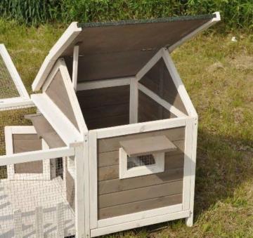 nanook Stall Felix für Zwergkaninchen Hamster Meerschweinchen mit Auslauf und Terrasse -143 x 74 x 82 cm - 5