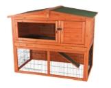 Trixie 62321 Natura Kaninchenstall mit Freigehege 123 × 96 × 76 cm, braun - 1