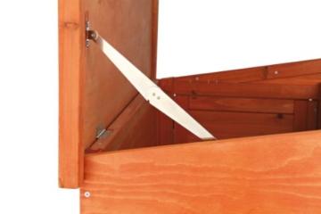 Trixie 62321 Natura Kaninchenstall mit Freigehege 123 × 96 × 76 cm, braun - 4