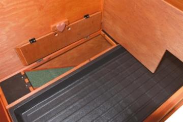 Trixie 62321 Natura Kaninchenstall mit Freigehege 123 × 96 × 76 cm, braun - 5