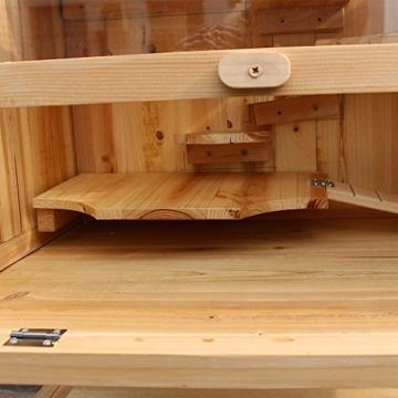Wiltec Hamsterkäfig Kleintierkäfig Mäusekäfig Nagerstall Rattenkäfig Hamster Holz Stall - 7