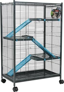 Zolux Käfig für Chinchillas/Frettchen/Ratte blau 72x 43x 107cm - 1