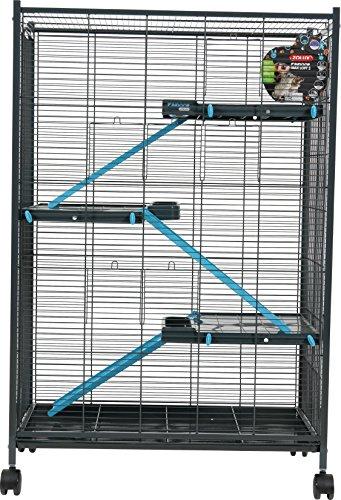 Zolux Käfig für Chinchillas/Frettchen/Ratte blau 72x 43x 107cm - 2