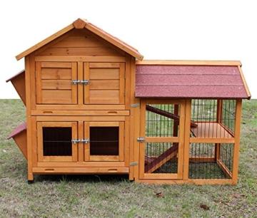 """Zoopplier Kaninchenstall Kleintierhaus Hasenstall Kleintierkäfig Nr. 05""""De Luxe mit Seitenflügeln - 1"""