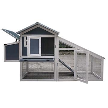 FeelGoodUK NCH10 Kunststoff und Holz Hühnerstall Hen House GEFLÜGEL ARK Home Nest Run Coup - 3