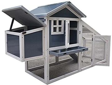 FeelGoodUK NCH10 Kunststoff und Holz Hühnerstall Hen House GEFLÜGEL ARK Home Nest Run Coup - 1