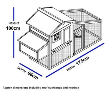 FeelGoodUK NCH10 Kunststoff und Holz Hühnerstall Hen House GEFLÜGEL ARK Home Nest Run Coup - 5